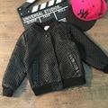 2017 Wholesale Hot fashion new boys girls cotton black pu  leather plaid baseball coats