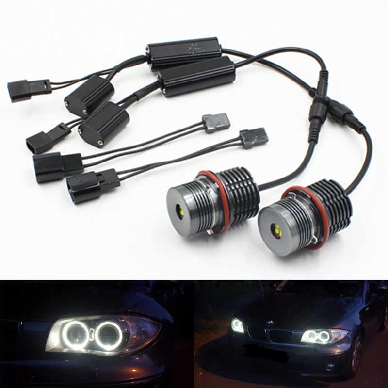 2x White LED Angel Eye Halo Ring Marker Headlight Daytime Light Bulb For E39 E53 E60 E61 E64 E65 E66 E87 X3 X5