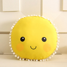 33.5cm big emoji pillow face plush toy cute round soft cushion baby play home sofa car back decoration pillow sunny kids gift
