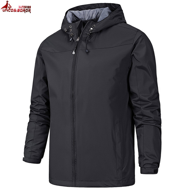 UNCO&BOROR spring Men Brand Clothing Sportswear Men Fashion Thin Windbreaker military Jacket Coats Outwear Hooded Men Jackets
