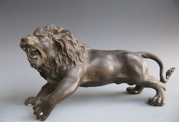 Collectible Bronze Lion Statue S1162 8