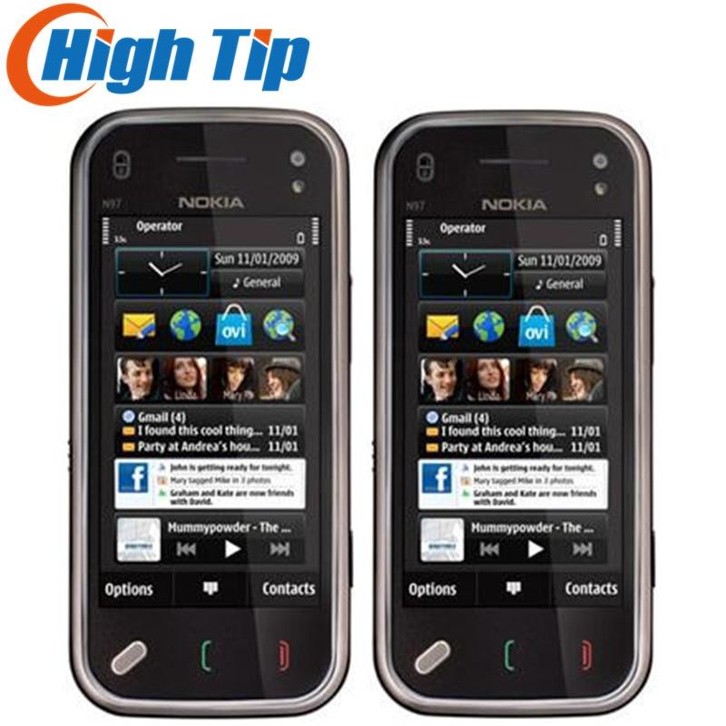 Фото. Nokia разблокирована оригинальный N97 мини мобильный телефон Камера 5MP хранения 8 ГБ gps WI-FI обно