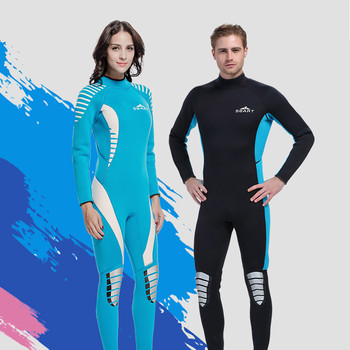 2017 Wetsuit For Swimming 3MM Neoprene One piece Full Body Wetsuit Men Spearfishing Scuba Diving Triathlon Wetsuits N1030 фото