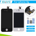 Black/White For iPhone 4 Screen Assembly Touch Digitizer LCD screen for iphone4 display Frame Pantalla Replacement +Tools