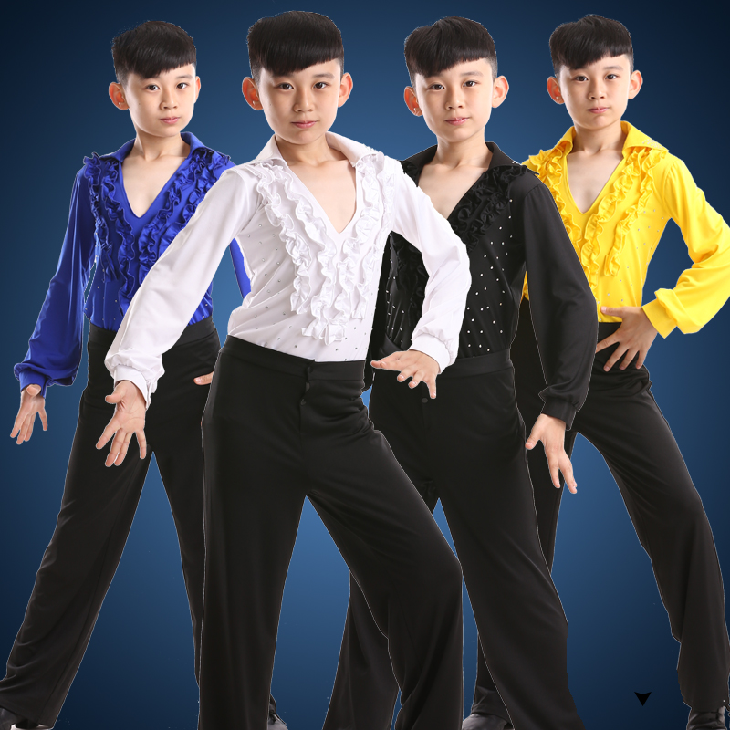 dance costumes for boys kids latin dancing shirts dance. Black Bedroom Furniture Sets. Home Design Ideas