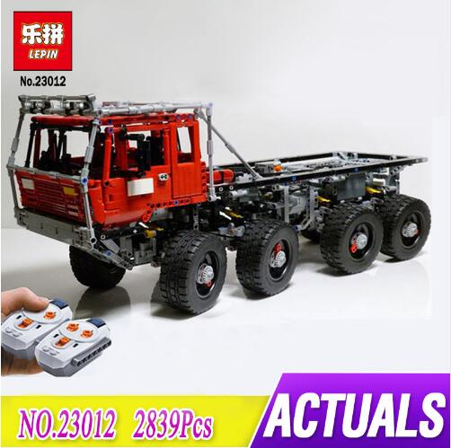 LEPIN 23012 technic series 2839pcs vehicles car Model toy Building blocks Bricks Equipped with 5 motors