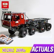 Лепин 23012 техника серии 2839 шт. транспортных средств модель автомобиля игрушка строительные блоки кирпичи оснащен 5 двигатели и 1 зарядки коробка 813