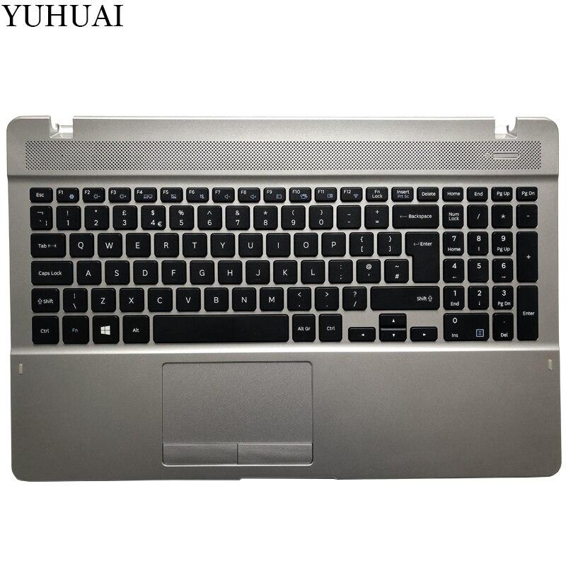 Clavier UK pour Samsung NP 370E5J 370B5J 371E5J UK clavier d'ordinateur portable avec BA98-00317A palmrest