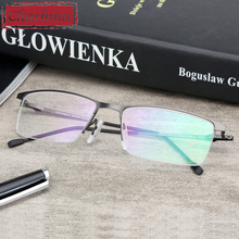 Chashma Brand Design Glasses Fashion Alloy Eyeglass Semi Frame Spectacle Frame Mens Optical Spectacles Frames Male fashion pvc frame spectacles eyeglass black