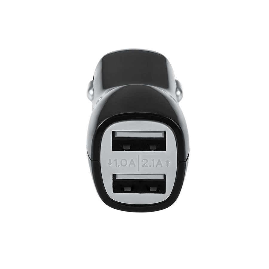 عالية السرعة 2 منافذ USB شاحن سيارة المحمولة السفر محول للشحن ل iphone 7 6 6s زائد سامسونج الذكي 2.1A سريع شحن