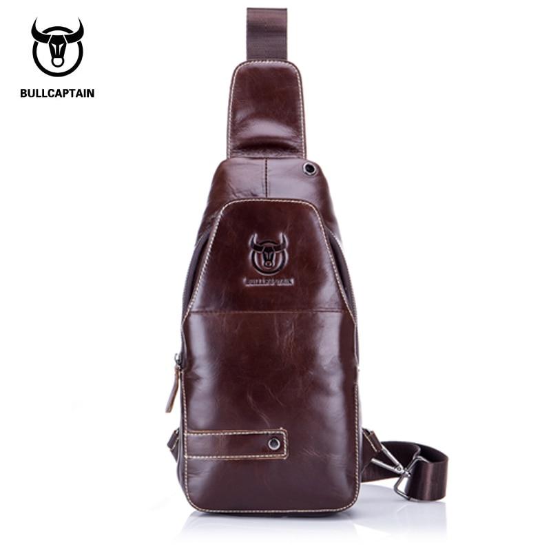 BULL CAPTAIN 2017 Leather chest MESSENGER BAGS FAMOUS Brand MEN Shoulder BAGS Fashion zipper sling bag MALE Crossbody Bag 087 bull captain 2017 fashion genuine