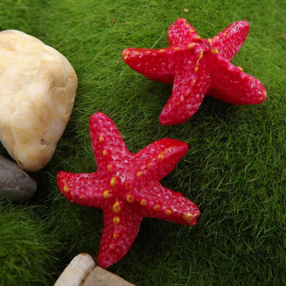 Hot Sale Starfish Miniatures Fairy Garden Decoration Micro Landscapes DIY Resin Craft Bonsai Figurine Terrarium Ornament Acce