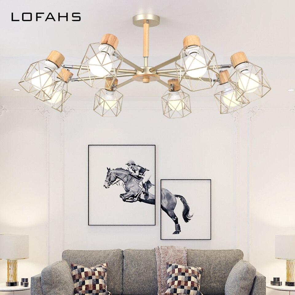 Современная Потолочная люстра 3 цвета для гостиной спальни столовой Дома Ретро Лофт Декор внутреннее освещение, люстры DS6905 Люстры      АлиЭкспресс