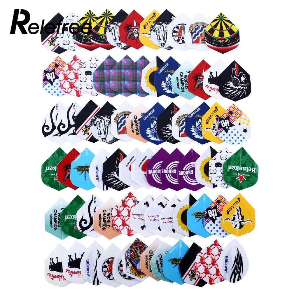 24 Sets 72pcs 2D Cool Bling Darts Flights Set Darts Tail Sports Professional Multiple Styles Colorful Dart Accessories
