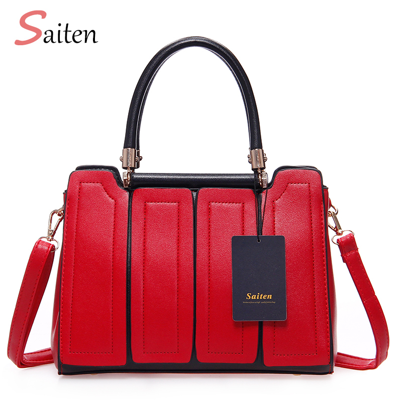 Famous Brand Women Bag PU Leather Tote Handbags New Fashion Shoulder Bags Woman Crossbody Bag 2018 New Frauen Tasche Luxus Marke bailar fashion women shoulder handbags messenger bags button rivets totes high quality pu leather crossbody famous brand bag