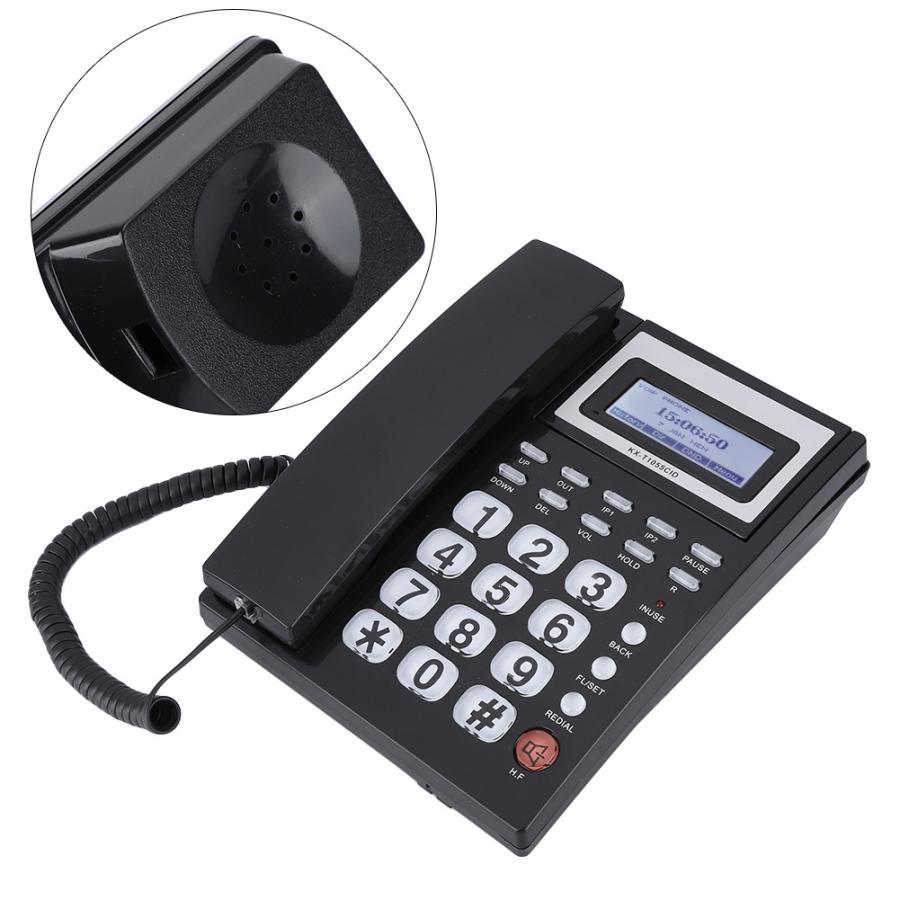 KX-T105 дисплей входящего вызова проводной телефон с громкоговорителем автоответчик с ЖК-дисплеем
