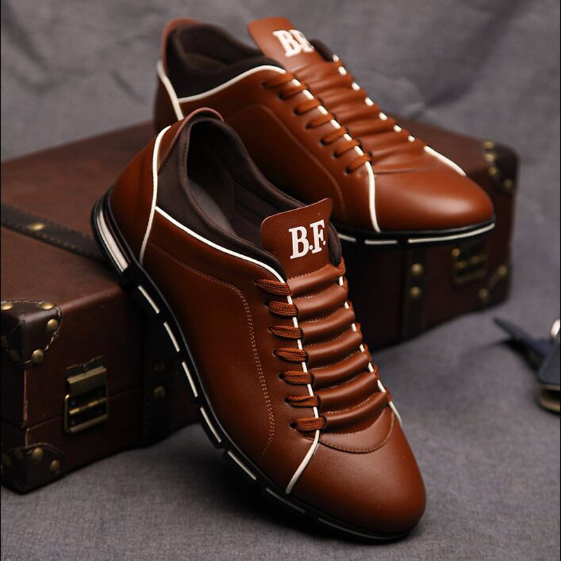 2739de0ac92c01 Spring Autumn New England Mens Casual Shoes Brand Men Leather Breathable  Shoes Solid Fashion Flats For Male -in Men's Casual Shoes from Shoes on ...