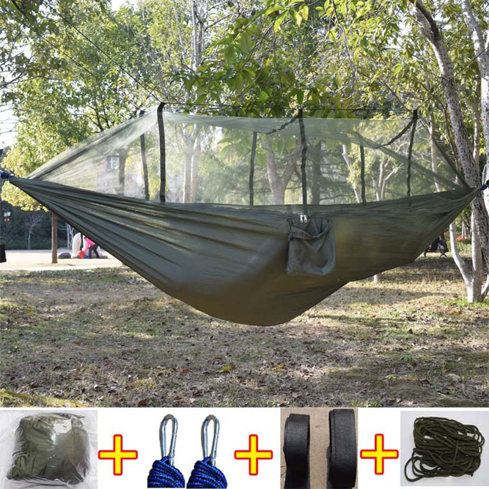 Hiking Camping Hammock Mosquito Net Parachute Fabric Indoor Outdoor Home Garden Beach Hangmat Backpacking Portable Travel Bed camping hiking travel kits garden leisure travel hammock portable parachute hammocks outdoor camping using reading sleeping