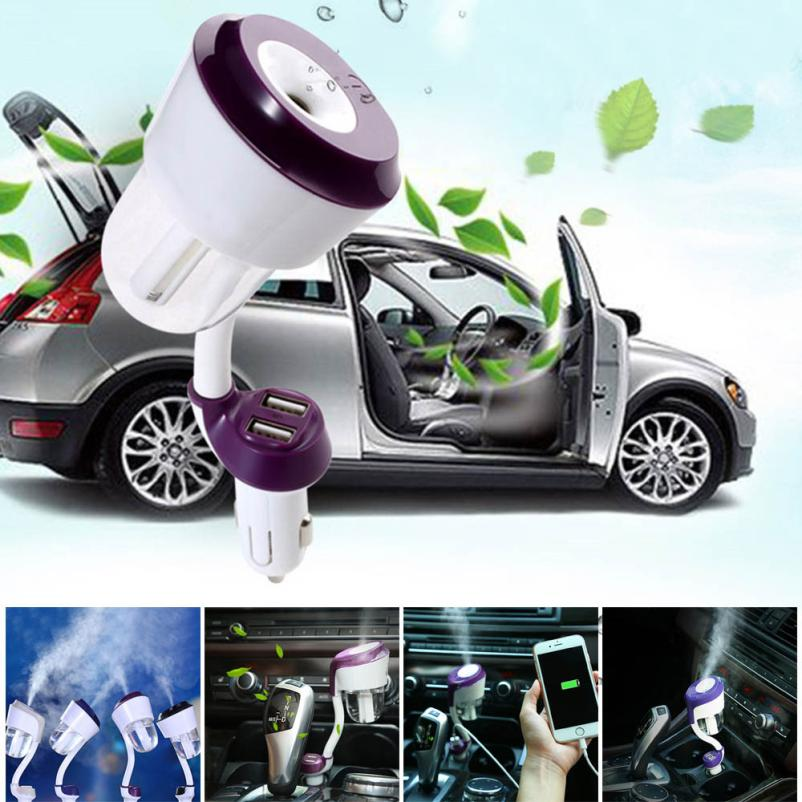 2016 HOT SALE Car Humidifier Air Purifier Freshener Travel Car Portable With USB Interface Vicky