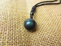 Black Obsidian Rainbow Eye Beads Ball Natural Stone Pendant Transfer Lucky Love Crystal Jewelry With Free Rope For Women and Men