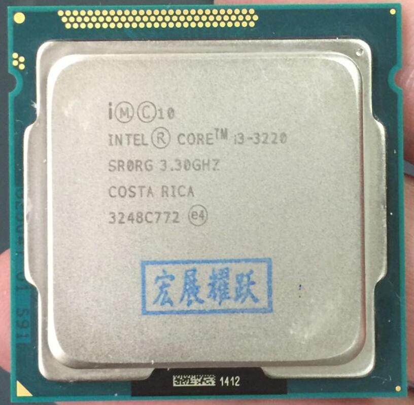 Intel Core i3-3220 i3 3220 Processeur (3 m Cache, 3.30 ghz) LGA1155 Dual-Core PC Ordinateur De Bureau CPU CPU