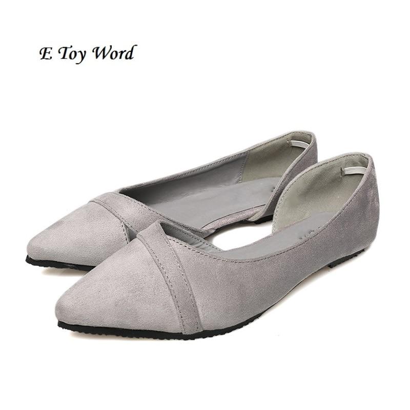 46b640eb4f Apontou sapatos baixos 2017 primavera primavera e no outono período e o  novo tipo de sapatos baixos coringa mulheres solteiras sapatos baixos