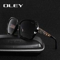 OLEY Polarized Sunglasses Women Luxury Brand Design Ladies Elegant Big Sun Glasses Female Prismatic Eyewear Oculos