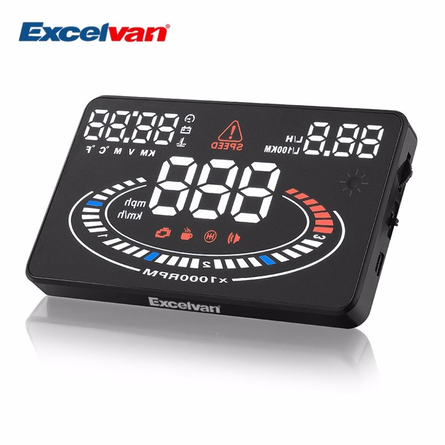 """2D Vision Cool 5.5"""" E300 Car HUD Head Up Display Projector OBD2 OBDII Interface Speed Warning System Speedometers"""