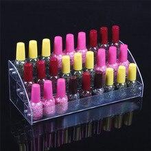 Купить с кэшбэком Wholesale 2Pcs Acrylic Clear View Assembled Cosmetics Nail Polish Lipstick Storage Orgonizer Display Stand Holder 3 Layers New