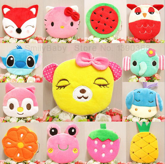 10pcs/lot-Cute cartoon girls small coin purse wallet change pocket case wedding souvenirs kids party gifts supplies
