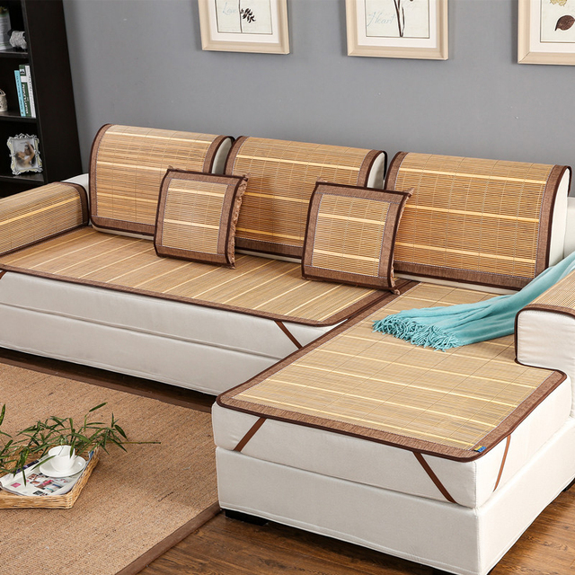 Hot Rattan Chair Cushions Mat Summer Cooling Couch Sofa Covers Seat Furnitures Cover Dustproof Slipcover