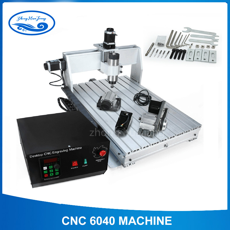 CNC 6040 2.2KW 4 Axis CNC Router CNC Wood Carving Machine USB Mach3 Control Woodworking Milling Engraver Machine With Cooled/Air