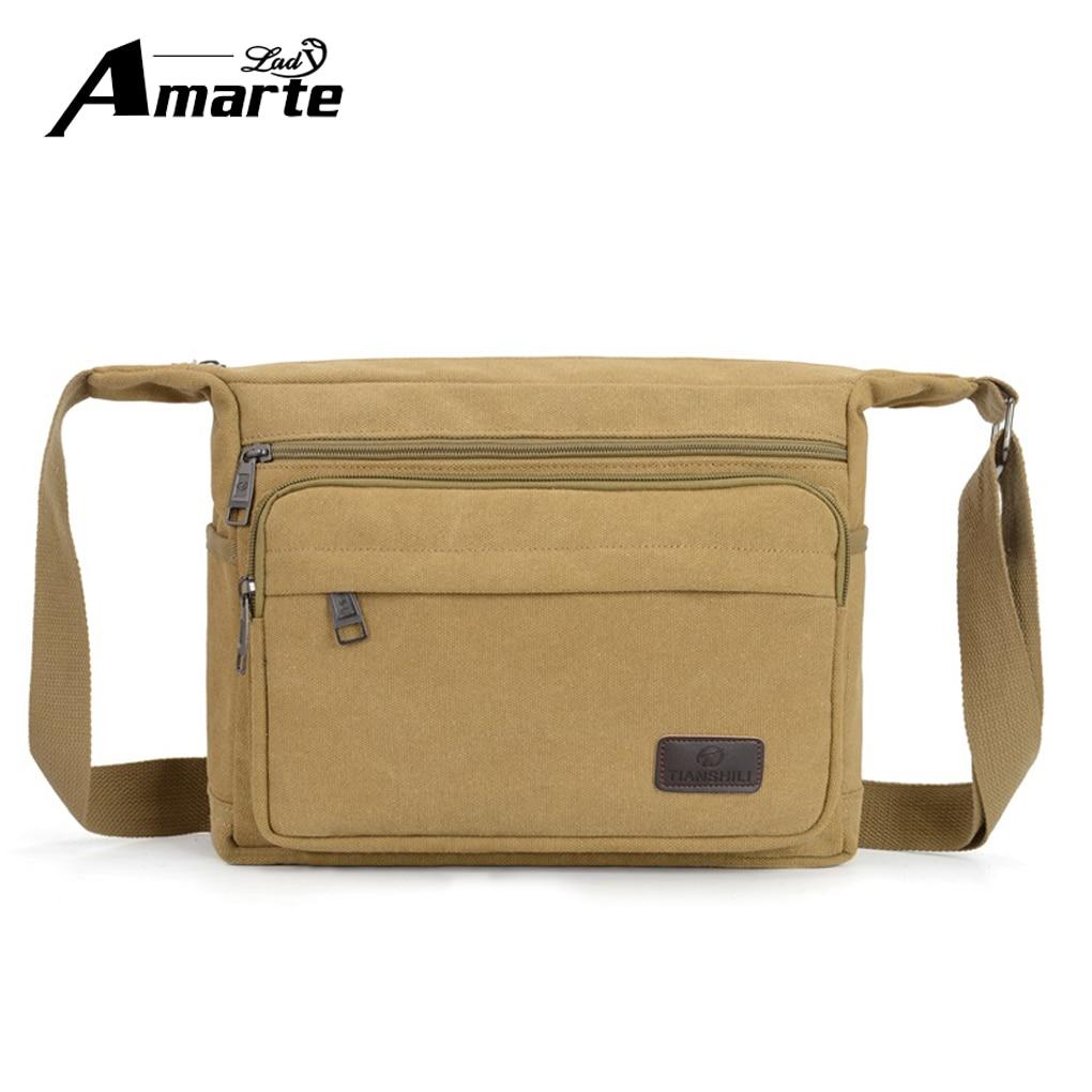 Aramte Men Vintage Canvas Messenger Shoulder Bags High Quality Man Travel Bags Casual Retro School Satchel Bag Handbag стоимость