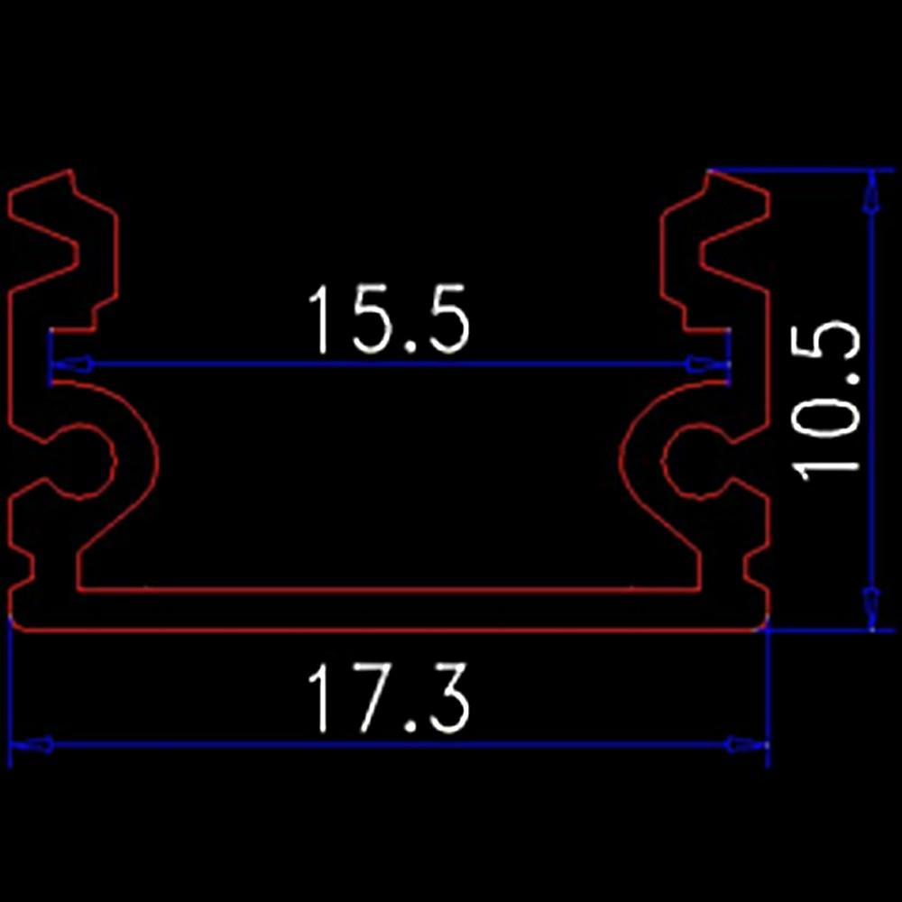 Parça başına 40m (20azn) çox 15mm genişlik üçün alüminium - LED işıqlandırma - Fotoqrafiya 3