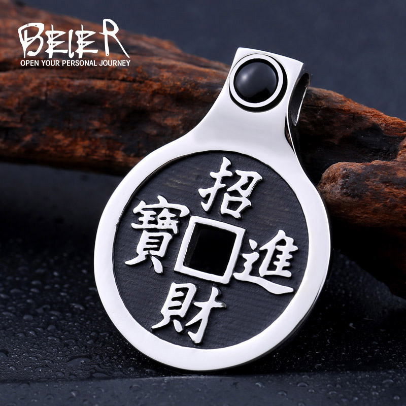 Beier new store 316L Stainless Steel pendant necklace Chinese style Tai Chi gossip luckly Fashion jewelry BP8-233 ...
