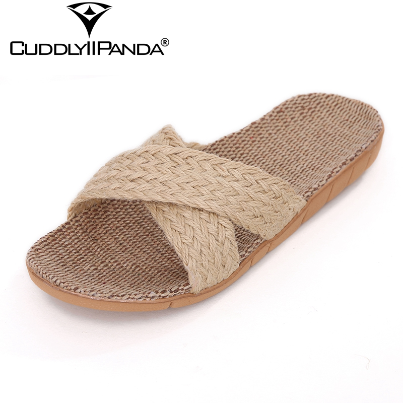 CuddlyIIPanda 2018 New Arrival Men Women Cross-tied Home Slippers Candy Color Pantufa Beach Sandals Indoor Zapatos Hombre Mujers free shipping candy color women garden shoes breathable women beach shoes hsa21