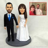 wedding cake topper custom handmade polymer clay doll resin wedding cake topper customize personalize doll figurine wedding gift