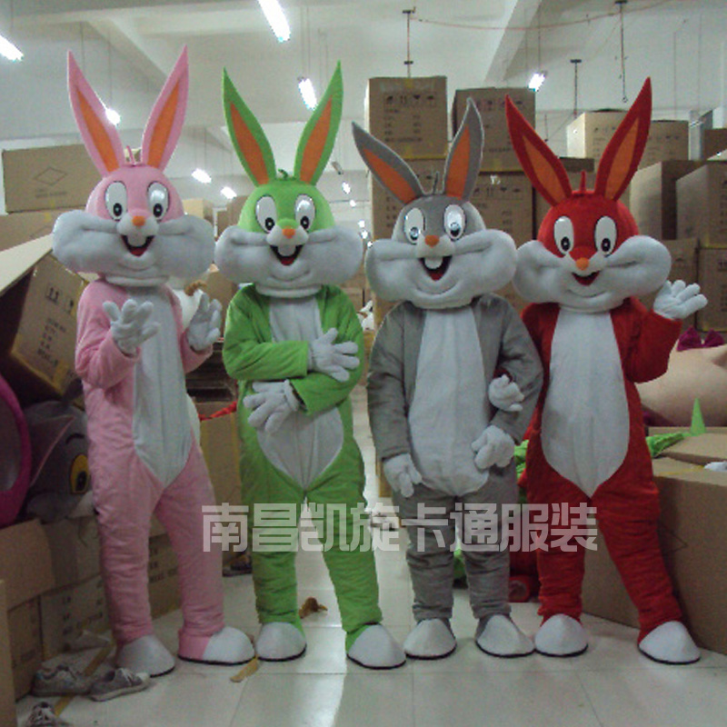 2017 Sell Like Hot Professional Easter Bunny Mascot Costumes Rabbit And Bugs Bunny Adult Mascot For Sale