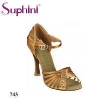 Free Fast Shipping Hot Sale Suphini Design Woman Popular Dance Shoes Crystal Salsa Shoes Woman Dancing