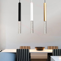 LED Pendant Lamp hanging lights Kitchen Island Dining Room Shop Bar Counter Decoration Cylinder Pipe Kitchen Lights