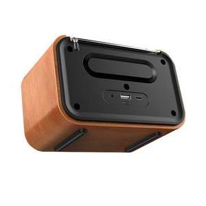 Image 3 - خشبيّ لاسلكيّ ساعة تنبيه سمّاعات بلوتوث متعدد الوظائف المكونات في بطاقة كمبيوتر مكبر صوت محمول الصوت والفيديو معدات