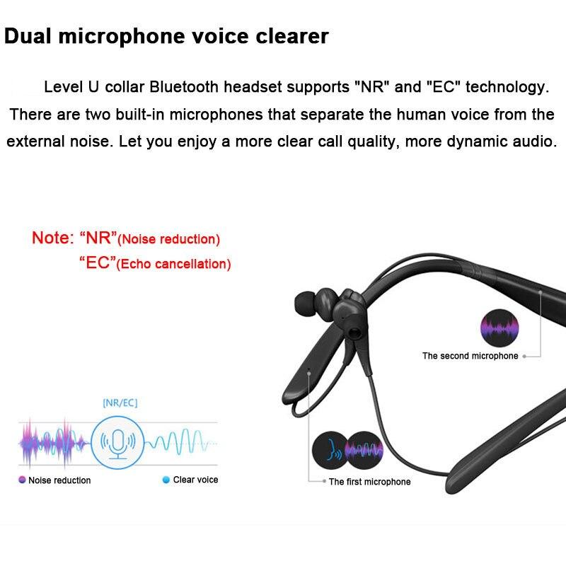 SAMSUNG Level U Écouteurs Intra-auriculaires Sans Fil Bluetooth casques Collier Antibruit Soutien A2DP, HSP, HFP pour Galaxie 8 S8plus - 2