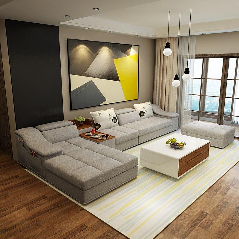 Mobili soggiorno moderno a forma di l divano componibile for Divani per soggiorno