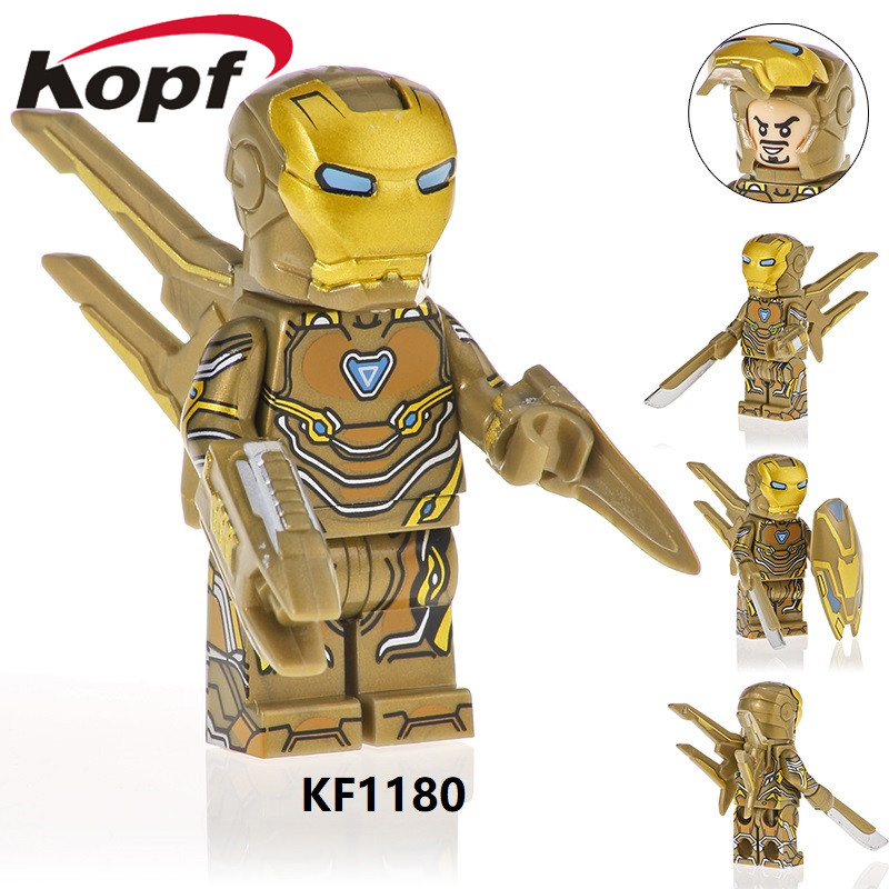 Single Sale Super Heroes Building Bricks Blocks Avengers 4 Rescuer Iron Man Series Figures M30 M39 M85 Kids Gift Toys KF1180