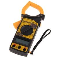 1pcs Portable DT266 multimeter AC DC Voltage LCD Digital Clamp Multimeter Electronic Tester(Black/Yellow)
