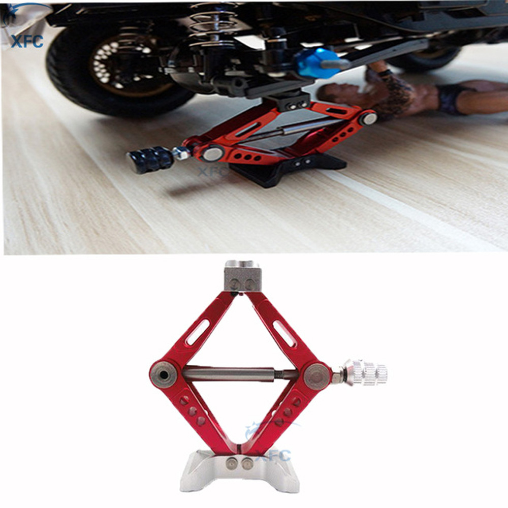 Metal 6 Ton Scissor Jack Stand Height Adjustable for 1/10 RC RC4WD D90 SCX10 Tamiya CC01 Crawler Car Part rc car 1 10 accessories adjustable metal scissor jack tool for rc crawler axial scx10 tamiya cc01 rc4wd d90 d110 rc truck parts