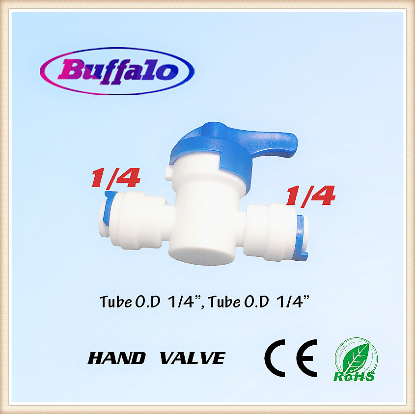 5pcs Water Connect 1/4 inch Ball Valve Shut off Quick Connect for RO Water Reverse Osmosis System Aquarium Osmosis Tee 1/4'' high quality 2pcs 4 way 1 4 port auto shut off valve for ro reverse osmosis water filter system
