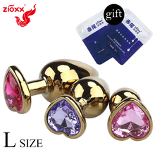 zioxx New Jeweled Anal Plug Big Size Aluminium Alloy Metal Smooth Butt Man Private Goods dropshipping