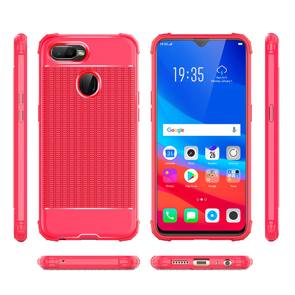 Luxury Heat Dissipation Armor TPU Matte Back Case For OPPO A83 F5 Young F3  F7 A59 F1S A5 A3S F9 A73S Cover Silicone Phone Cases