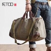 AETOO большой емкости Холст Дорожная сумка повседневные багажные пакеты сумка деловая сумка